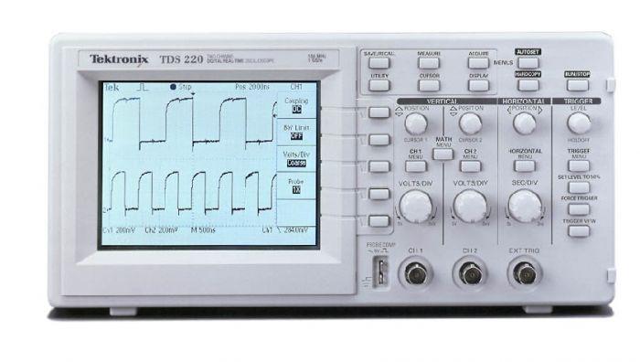 tds220 tektronix 100 mhz 2 channel digital oscilloscope used rh valuetronics com Tektronix TDS 210 Manual Tektronix TDS 224
