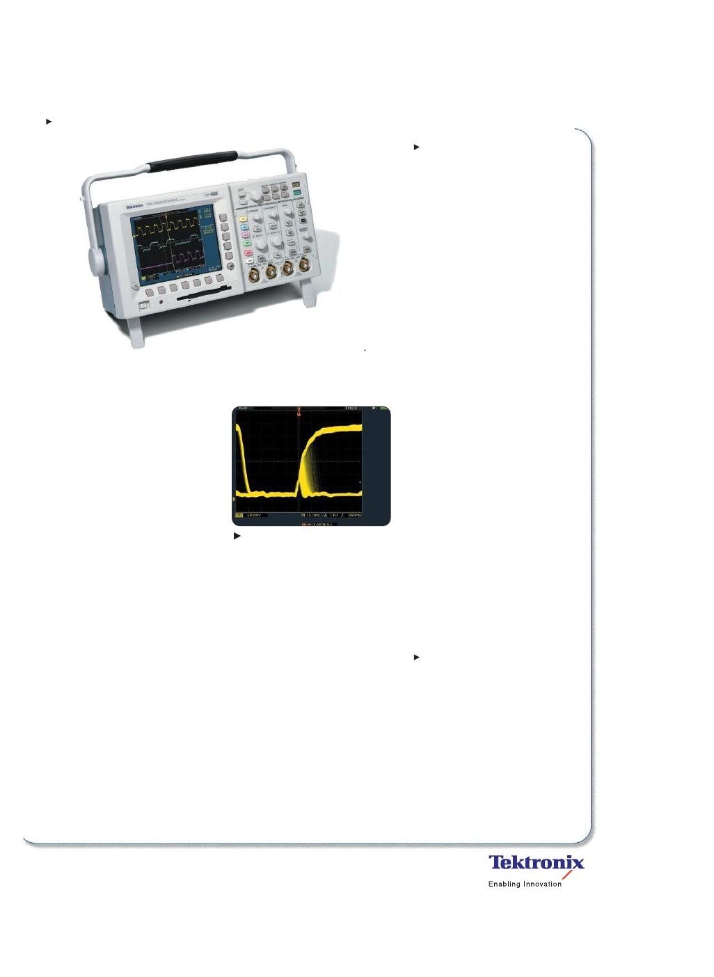 tds3000b tektronix series digital oscilloscope