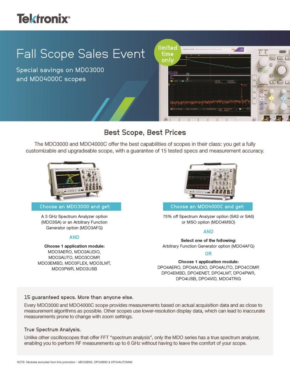 Tektronix Fall Scope Sales Event